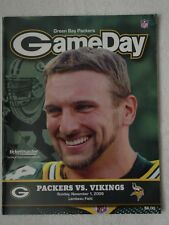2009 Brett Favre vs Aaron Rodgers GREEN BAY PACKERS vs Minnesota Vikings PROGRAM