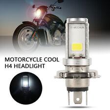 1x Motorcycle H4 Headlight White 6000k LED Hi-lo Beam Light Lamp Motorbike Bulb