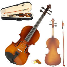 New 1/8 Acoustic Natural Violin + Case + Bow + Rosin for 4-5 years old Kids Gift