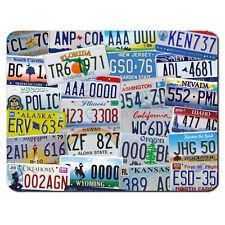 USA Número Licencia Platos American Retro coches Alfombrilla de ratón pc Pad