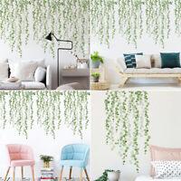 DIY Wall Door DecalsPlants Green Leaves Living Room Bedroom  Wall Stickers