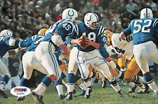 Johnny Unitas NFL Baltimore Colts Autographed Magazine Pic PSA Authentic
