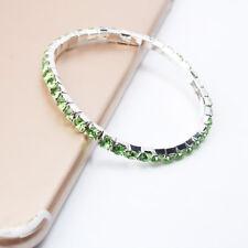 Women Fashion Rhinestone Crystal Bracelet Stretch Bangle Cuff Jewelry Bridal Gif