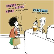 Valium Vodka Latte Funny Proctor Proctor Humour Greeting Card Blank Inside