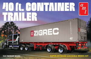 1:24 Scale 40Ft Container Trailer Plastic Model Kit