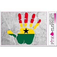 Ghana - Hand Palm Finger Print Aufkleber Flag Sticker Motiv African