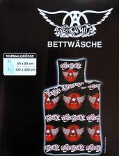 Aerosmith Bettwäsche Schwarz Fanartikel 135x200cm Rock Kult Heavy Metall NEU