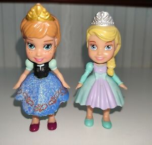 JAKKS Mini Toddler Disney Princess Frozen Anna & Elsa Dolls