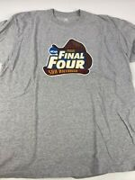 2008 Adidas NCAA Final Four Shirt Large Memphis Kansas UNC UCLA Gray