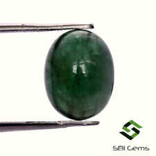 5.20 Cts Certified Natural Emerald Oval Cabochon 12x9.50 mm Dark Green Gemstone