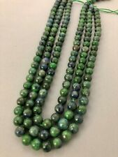 """15"""" Strand of 8mm azurite malachite beads for jewelry making and crafts"""