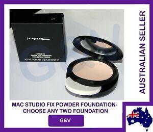 2X MAC Studio Fix Powder Plus Foundation - SELECT ANY TWO - CLEARANCE