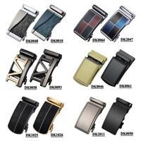 Designer Mens Belts Buckles Automatic Ratchet Sliding Same Style Solid Letter M