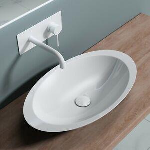 doporro Waschbecken Aufsatzwaschtisch Gussmarmor Mineralguss Waschtisch Col802