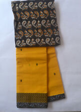 South Cotton pure handloom saree Canary Yellow