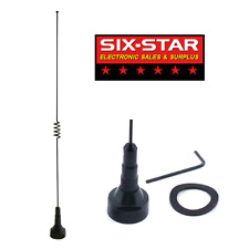 DUAL BAND NMO MOBILE ANTENNA 2 METER 70cm 140-170 / 430-470 MHz BLACK WITH SEAL