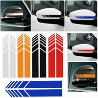 2x Car Rearview Side Mirror Sticker Vinyl Decal Stripe Emblem For Mercedes-Benz