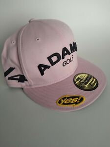 NEW Adams Golf V4 YES! New Era 59 Fifty Golf Hat - 7 1/4 - PINK - Tour Use
