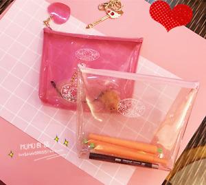 Anime Cardcaptor Sakura Transparent Cosmetic Bag Clear Makeup Bags 3 Patterns