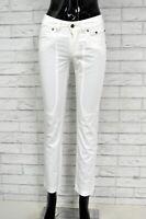 Pantalone Corto Bianco Donna JECKERSON Jeans Taglia 25 39 Pants Woman Pant Femme