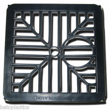 BLACK PLASTIC SQUARE DRAIN GULLEY GRID COVER 150MM 6 INCH