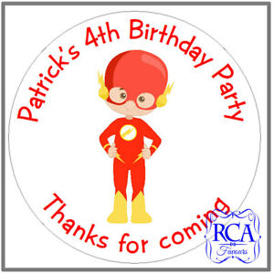 24 x Personalised Kids Childrens Birthday Party 'Thanks for coming' stickers SHD