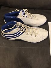 Autographed Dennis Rodman Adidas Game Worn Sneakers 2008 Exhibition Tour