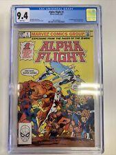Alpha Flight #1 Marvel Comics 1983 CGC 9.4 NM Origin & 1st App. Puck & Marrina