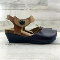 L'ARTISTE Spring Step Glovely Cork Wedge Sandals Closed Toe Women's Size 6.5-7