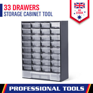 33 Drawers Tool Storage Cabinet Parts Box Bin Chest Case Organizer With Dividers