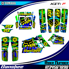 yamaha banshee 350 decals graphics stickers full kit new banshee350