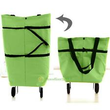 Foldable Folding Shopping Trolley Bag Rolling Wheel Cart Grocery Tote Handbag