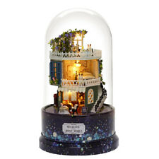 DIY Glass Ball Dollhouse Star Dreams Miniature Furniture Kit LED Light Kids Gift