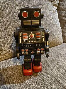 Vintage Horikawa Japan Tin Dino Toy Space Robot B/O
