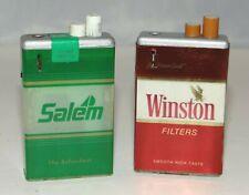 Winston Salem Menthol Kings Butane Lighter Rj Reynolds Tobacco Co Set of 2