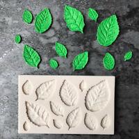 Feuille en forme de silicone moule feuilles gâteau Decor fondant biscuits moule