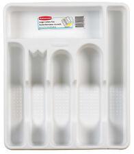 Rubbermaid 13.5 in. L x 11.5 in. W x 1.75 in. H White Plastic Utensil Tray