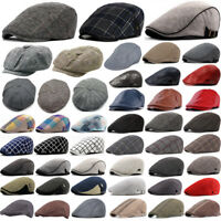 Men Women Newsboy Gatsby Cap Ivy Hat Golf Driving Flat Cabbie Beret Driver Hats