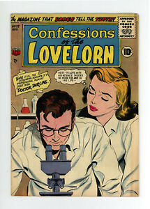 CONFESSIONS Of The LOVELORN #72  - GREAT COVER - VERY RARE: NONE ON CGC  1956