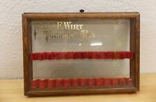 Antique Paul E. Wirt Fountain Pen Countertop Store Display Case 12 Pen