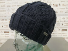 BENCH Fold-Up Beanie Men's CAREEN Cable Knit Ribbed Layrede Cap Navy Hat BNWT