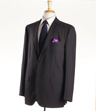 NWT $8995 KITON NAPOLI Brown-Sky Blue Check Super 180s Wool Suit 46 R (Eu 56)