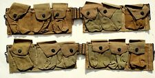 "US WWII MODIFIED US WWI ERA KHAKI WEB  ""BAR"" BELTS"