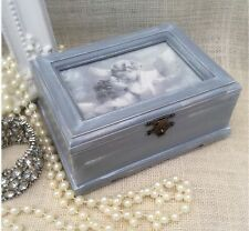 Wooden Angel Jewellery Box-Grey Shabby Chic/Vintage-Small Size