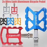 2Pcs Mountain Road Bike Aluminum Alloy MTB Pedals Flat Platform Bicycle Pedal