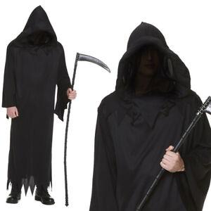 Karnival Halloween Mens Grim Reaper Costume