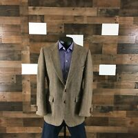 Harris Tweed For Eagle 40R Slim Fit Sport Coat Blazer Jacket Herringbone Men's