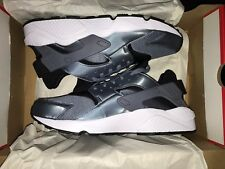 Nike Air Huarache Gray Armory Blue Black White Shoes 318429-419 - Size 10