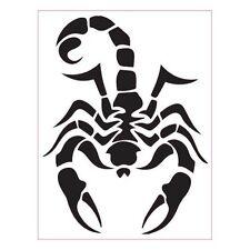 Scorpion autocollant sticker adhésif blanc 4 cm
