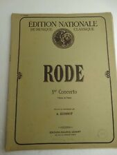 RODE 1ER CONCERTO VIOLON ET PIANO A QUESNOT 25 PAGES